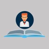 Kemikalie med forskarekemidiagrammet stock illustrationer
