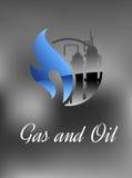 Kemikalie- och gasfabrik stock illustrationer