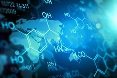 Kemikalie- och medicinsk forskningvetenskapsbegrepp vektor illustrationer