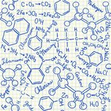 Kemikalien klottrar den sömlösa modellen royaltyfri illustrationer