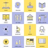 Kemilägenhetlinje symboler royaltyfri illustrationer