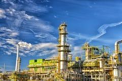 Kemisk bransch - raffinaderi som för tillverkning av bygger bränslen royaltyfria foton