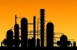 Kemisk fabrik stock illustrationer