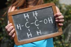 Kemisk formel för ethanol Arkivbilder