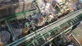 Kemisk industrianläggning från över royaltyfri bild