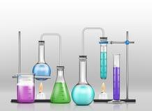 Kemisk laborationtecknad filmvektor vektor illustrationer