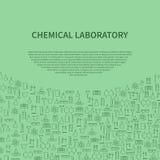 Kemisk mall för broschyr för laboratoriumutrustning också vektor för coreldrawillustration stock illustrationer