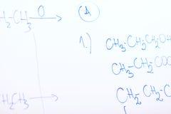 Kemisk molekylstruktur på den vita galten Royaltyfri Fotografi