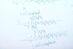 Kemisk molekylstruktur på den vita galten Royaltyfri Foto