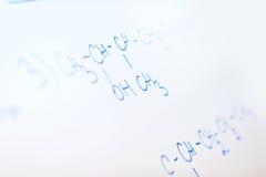 Kemisk molekylstruktur på den vita galten Fotografering för Bildbyråer