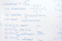 Kemisk molekylstruktur på den vita galten Royaltyfria Bilder