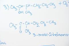 Kemisk molekylstruktur på den vita galten Royaltyfria Foton