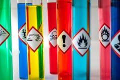 Kemisk pictogram för vård- fara Royaltyfria Bilder