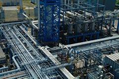 Kemisk tillverkning, växtkonstruktion Fotografering för Bildbyråer