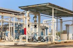 Kemisk växt för gasformigt grundämne för fabrik Royaltyfri Fotografi