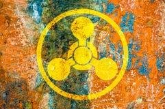 Kemiskt vapensymbol Arkivbild