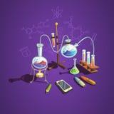 Kemivetenskapsbegrepp vektor illustrationer