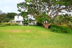Kemp House é a construção a mais velha de Nova Zelândia Foto de Stock
