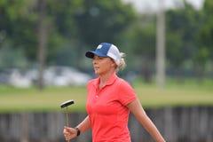 Kemp Sarah av Australien i förlagen 2017 för PTT Thailand LPGA Arkivfoton