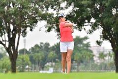 Kemp Sarah av Australien i förlagen 2017 för PTT Thailand LPGA Royaltyfri Foto