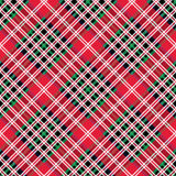 Kemp tartan fabric texture check diagonal seamless pattern Stock Photo