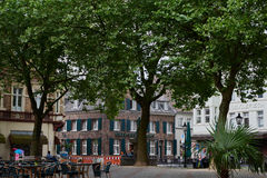 KEMPEN, ΓΕΡΜΑΝΊΑ - 13 ΙΟΥΛΊΟΥ 2016: Η ιστορική αγορά χτίζει το s το κέντρο της πόλης Στοκ εικόνα με δικαίωμα ελεύθερης χρήσης
