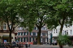 KEMPEN, DEUTSCHLAND - 13. JULI 2016: Die historische Marktplatzgestalt s die Mitte der Stadt Lizenzfreies Stockbild
