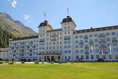 Kempinski. The famous luxury hotel kempinski at st. moritz in switzerland Stock Photo