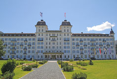 Kempinski hotel. The luxury hotel kempinski at st. moritz in switzerland Royalty Free Stock Image