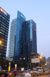 Kempinski Hotel in Shanghai. Glass facades, Kempinski Hotel, Pudong in Shanghai, China Stock Image