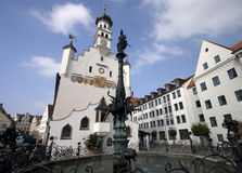 Kempten Old Town Hall Wide Royalty Free Stock Photography