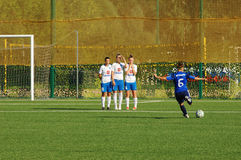 Kemryugova Snejana (6), strike the penalty Royalty Free Stock Photography