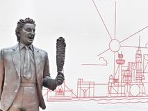 Ken Dodd statue at Lime Street station in Liverpool stock image