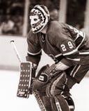 Ken Dryden, Montreal Canadiens. Montreal Canadiens goalie Ken Dryden, Image taken from B&W negative Stock Images