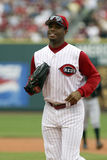 Ken Griffey Jr. of the Cincinnati Reds. Ken Griffey Jr of the Cincinnati Reds running back to the from the outfield stock photography