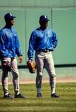 Ken Griffey Jr en Ken Griffey Sr , Seattle Mariners Royalty-vrije Stock Foto