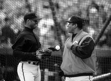Ken Griffey And Ken Griffey Jr Of The Cincinnati Reds Royalty Free Stock Image