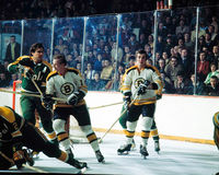 Ken Hodge e Wayne Cashman (Boston Bruins) Imagem de Stock