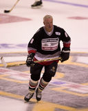Ken Hodge, Sr., plays in a charity hockey game. Royalty Free Stock Images
