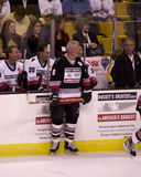 Ken Hodge, Sr., plays in a charity hockey game. Stock Image