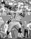 Ken O'Brien. New York Jets QB Ken O'Brien, #7 (Image taken from the B&W negative Royalty Free Stock Photos