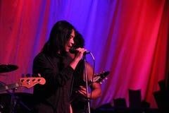 Ken Shima (vocals). Ken Shima  rocking at a fundraiser in Oregon Stock Photo