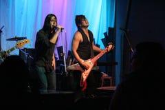 Ken Shima (vocals). Ken Shima  rocking at a fundraiser in Oregon Royalty Free Stock Photo