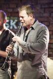 Ken Vandermark under konsert Royaltyfri Bild