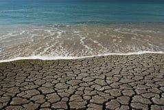 öken vs vatten Royaltyfria Foton