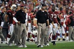 Ken Whisenhunt Coach pour les Arizona Cardinals Images libres de droits
