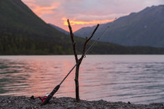 Kenai fishing pole Stock Images