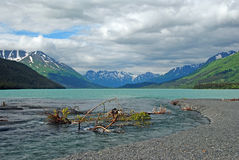 Kenai Lake in Alaska Royalty Free Stock Images