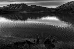 Kenai Lake in Black and White Royalty Free Stock Photos