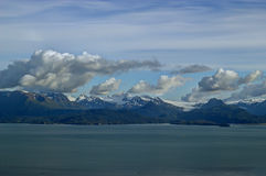 Kenai mountain glaciers with storm clouds Stock Image